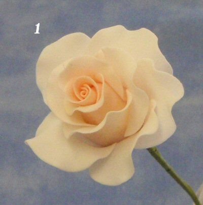 sugar paste rose tutorial.. Probably one of the easiest to follow