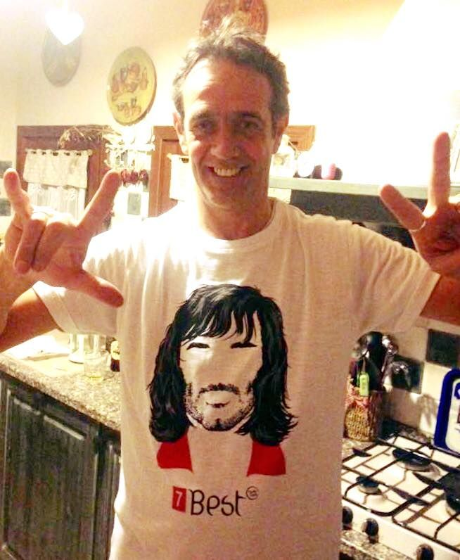 Paolo Andreotti e Tee4two: George best, t-shirt Tee4two