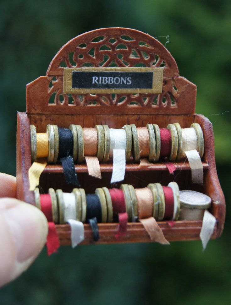 how to - ribbon rack- paper rolls - cookie counter - small gift display ....