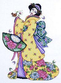 Golden Geisha Cross Stitch Kit 2710