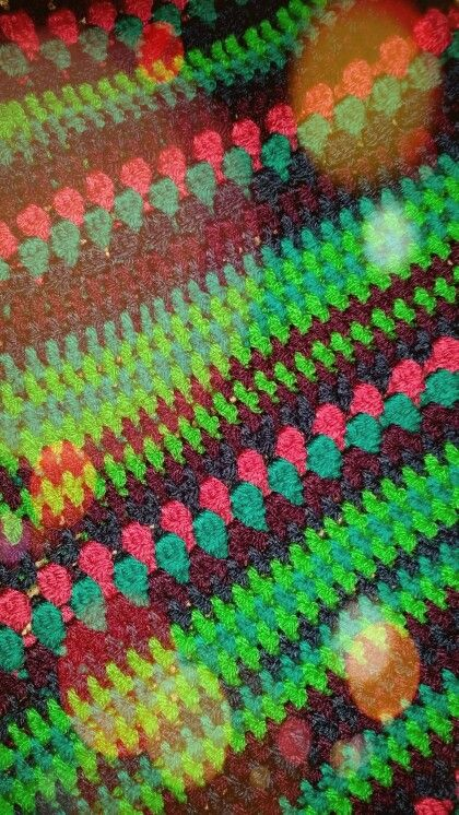 Colourful poncho, random looking pattern, handmade. Original Pjotra Design, always unique!