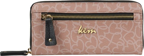 Kem wallet passion in pink and light grey color at Papa k' Froufrou
