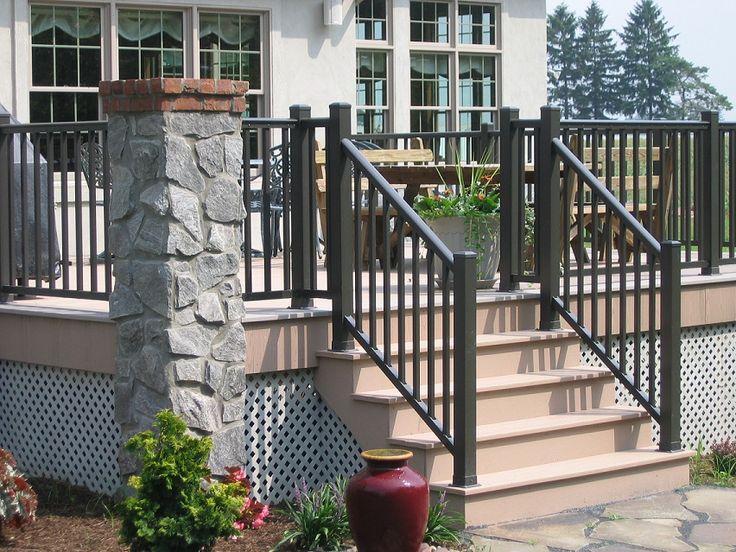 metal deck railing home depot menards design aluminum