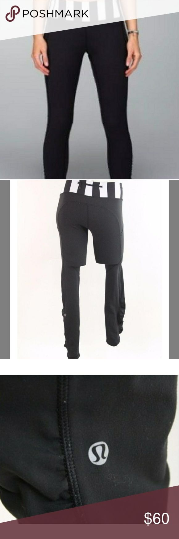 """Lululemon Speed Tight Brushed Interlock Run Pants Lululemon Speed Tight Run Pants brushed Interlock Power Luxtreme fabric is cozy, wicks moisture and feels soft against your skin.  comfortable, medium-rise waistband lies flat and smooth to prevent muffin top continuous draw-cord won't get lost in the wash. say no to chafing with flat seams  Fit + function:  Designed for: run fabric(s): Interlock Power Luxtreme fit: tight rise: medium inseam: 30"""" leg opening: 8 1/8"""" Condition: Excellent used…"""