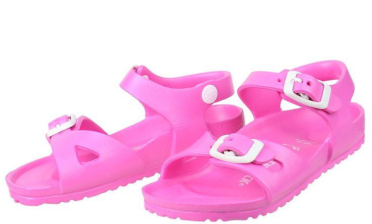 Παιδικά+σανδάλια+BIRKENSTOCK+σε+χρώμα+ρόζ.  ΥΛΙΚΟ:+EVA+100%+Ανθεκτικό+στο+νερό.  ΧΩΡΑ+ΚΑΤΑΣΚΕΥΗΣ:+Γερμανία.