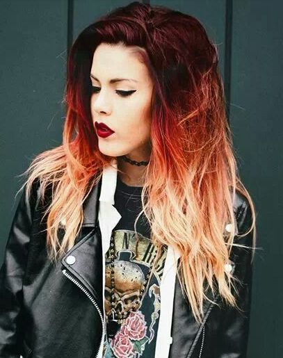 red orange ombre hair love colored hair pinterest