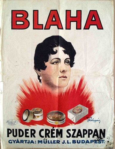 Blaha Face Powder, Cream and Soap (1922.)