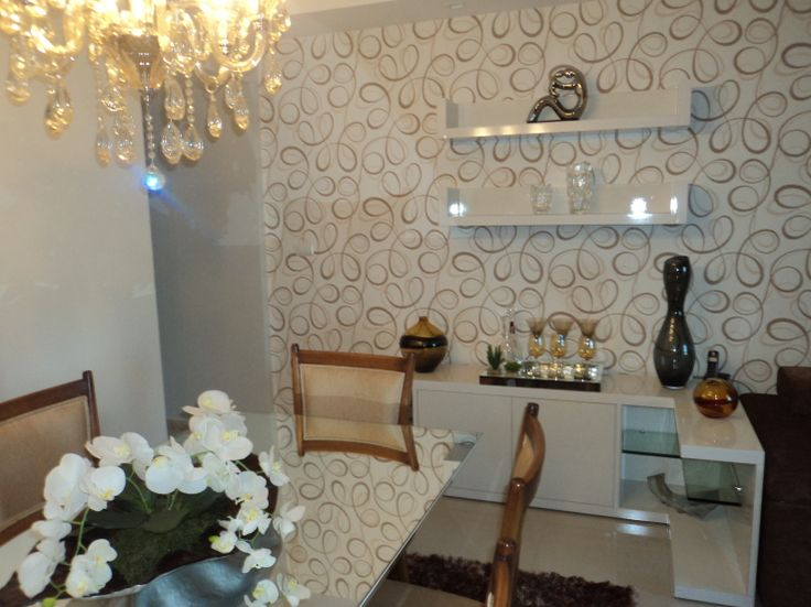 17 best images about ambientes decorados on pinterest for Wallpaper sala de estar