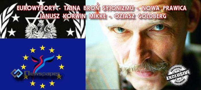 Eurowybory – strzeżcie się masona i kłamcy – Janusza Korwina Mikke (Ozjasz Goldberg)