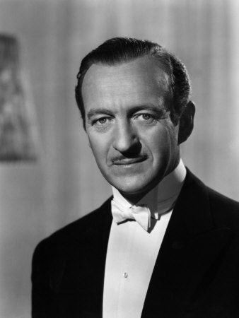 DAVID NIVEN  (1910 - 1983)  Wuthering Heights (1939), Enchantment (1948), Separate Tables (1958), The Guns of Navarone (1961), Murder by Death (1976), The Sea Wolves (1980)