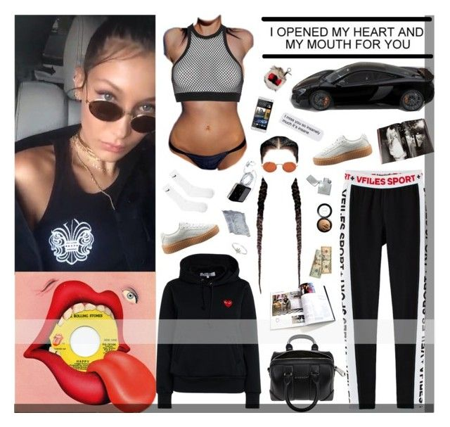 """""""SAID SHE NEED A RING LIKE CARMELOOOO"""" by xo-jas ❤ liked on Polyvore featuring Yves Saint Laurent, Givenchy, Play Comme des Garçons, Taschen, Dsquared2, Puma, Oliver Peoples, Zippo, HTC and NIKE"""