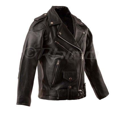 Womens Leather Brando Biker Jacket