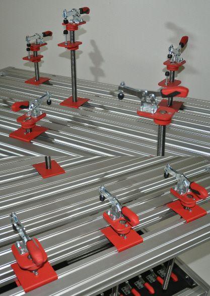 Arbeitsplatzsysteme Spannsysteme Spanntische für Carbon Rennsport oder Industrie