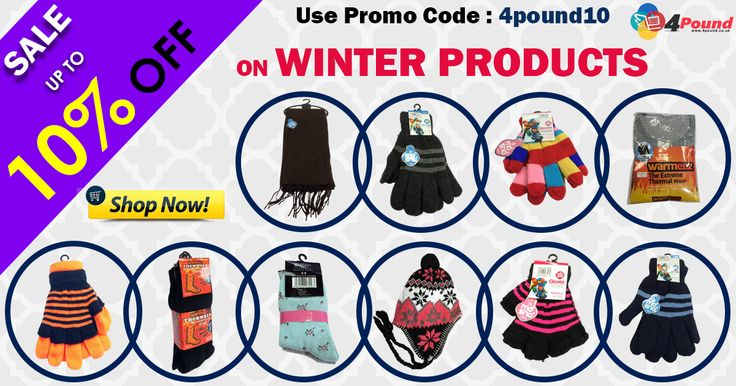 Buy Winter Products from 4pound UK's Largest Online Pound Store. Get 10% Discount with free shipping. Apply coupon code as 4pound10  #4pound #winter_Products #onlinepoundstore #gloves  http://www.4pound.co.uk/winter-products