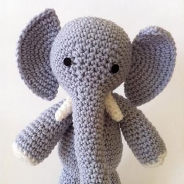 E is for Elephant amigurumi pattern by Ami Amour Amigurumi, Shops and Crochet