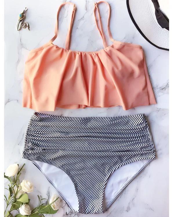 bc0fbfbff8 Falbala High-waisted Bikini Set in 2019 | What's New | Flounce ...