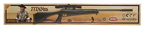 Benjamin Titan XS NitroPiston Air Rifle with Scope, 0.177-Calibre - http://www.airrifleforsale.com/air-rifles/benjamin-titan-xs-nitropiston-air-rifle-with-scope-0-177-calibre-3/ - The original Nitro Piston provides quiet power for all of your small game hunting needs. Benjamin Nitro Piston powered break barrels produce 70% less noise than spring powered airguns with smooth cocking effort, less recoil and less noise. - #0177Calibre, #Air, #Benjamin, #NitroPiston, #Rifle, #Scop