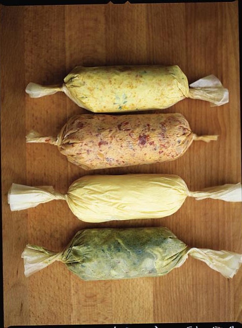 Flavoured butters | Jamie Oliver | Food | Jamie Oliver (UK) - http://www.jamieoliver.com/recipes/vegetables-recipes/steamed-vegetables-with-flavoured-butters