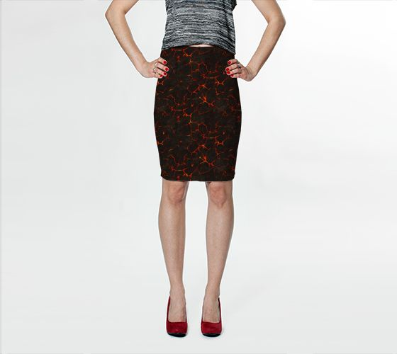 Breaking Lava Bodycon Skirt - Available Here: http://artofwhere.com/shop/product/39974