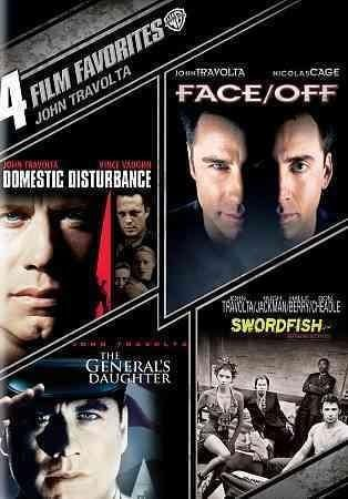 This release brings together four thriller's that star John Travolta including SWORDFISH, THE GENERAL'S DAUGHTER, DOMESTIC DISTURBANCE, and the John Woo-directed FACE/OFF.
