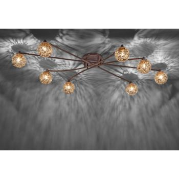 20 best smart lighting the latest technology teamed with quality a modern and elegant semi flush ceiling pendant made in steel with a brown lacquered semi flush ceiling lightslow aloadofball Images