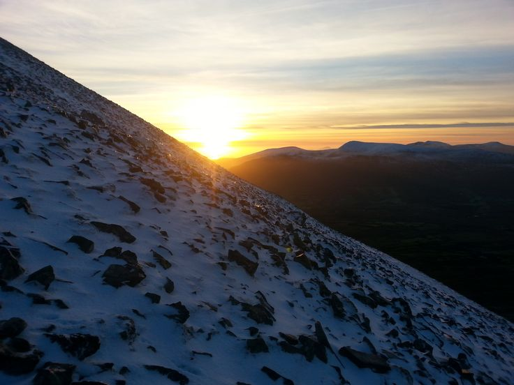 Sunset over Nephin Beg Mountains.