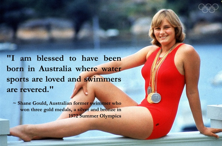 #Swimming legend Shane Gould, Australian former swimmer and #Olympic medalist