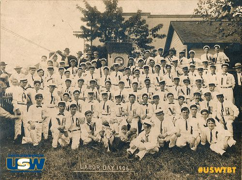 Thank you #USW LU 1899 for this week's #USWTBT #ThorwbackThursday.  Pictured - Lodge 11 of the AAITW in Granite City, Illinois on #LaborDay in 1906.  Lodge 11 became USWA Local 67 in 1942 and USW Local 1899 in 2003.  You can submit your stories, photos and videos for our next #TBT to newmedia@usw.org.