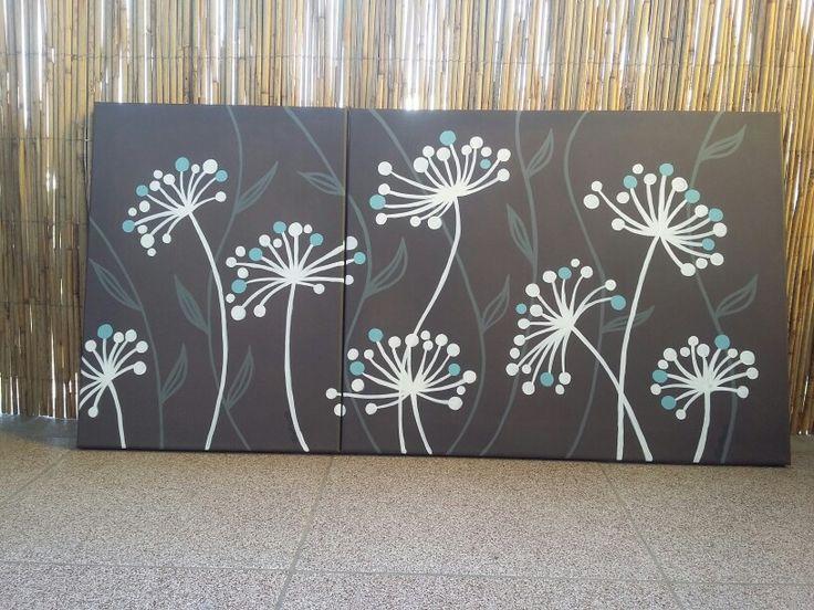 Virágok ( abstrakt, akryl, vászon ) Farkas Anikó 2015.07.