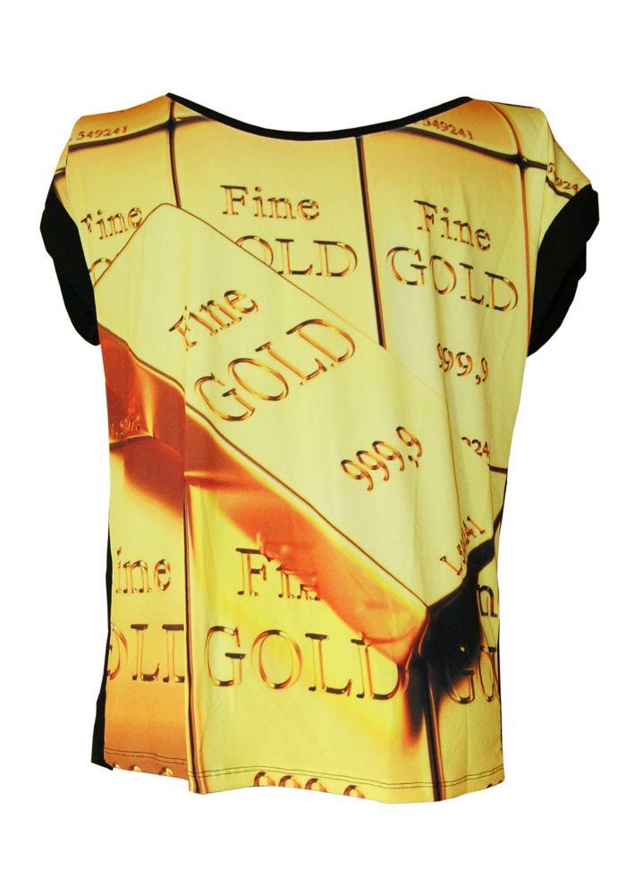 Bluzka sztaby złota