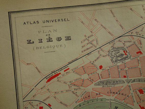 Carte de Liège 1877