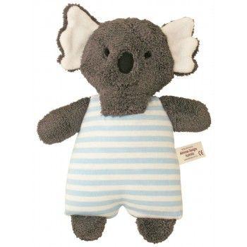 The most Australian gift possible for a little bundle of joy: Alimrose Koala Toy Rattle Stripe Blue