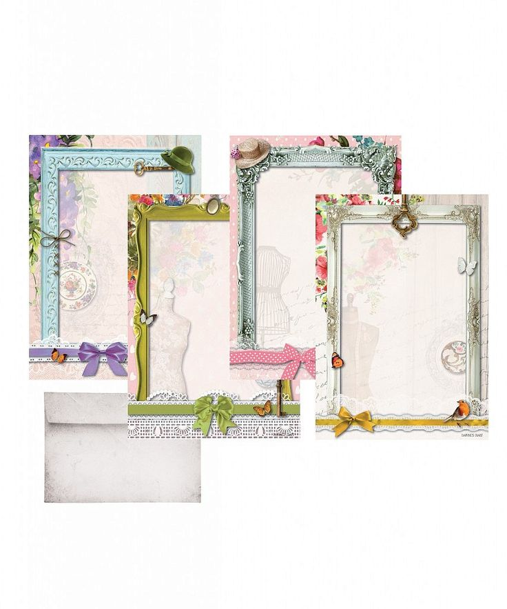 Daphne's Diary A5 writing paper set 'frames'