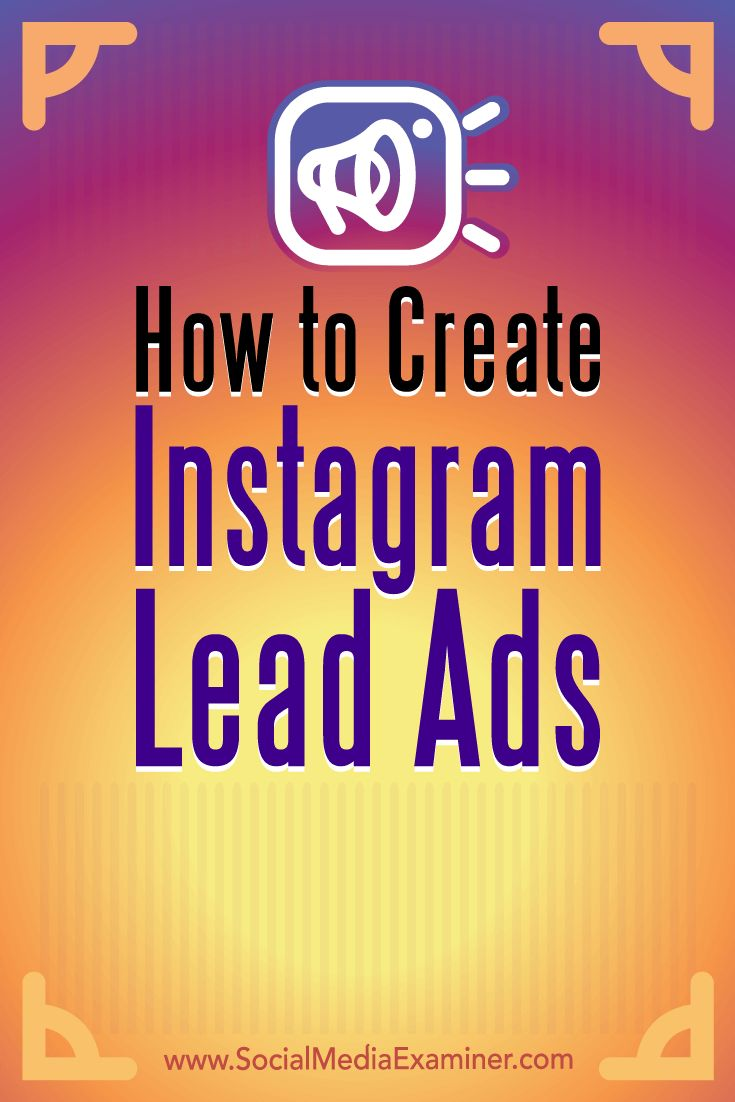 How To Create Instagram Lead Ads #isntagram