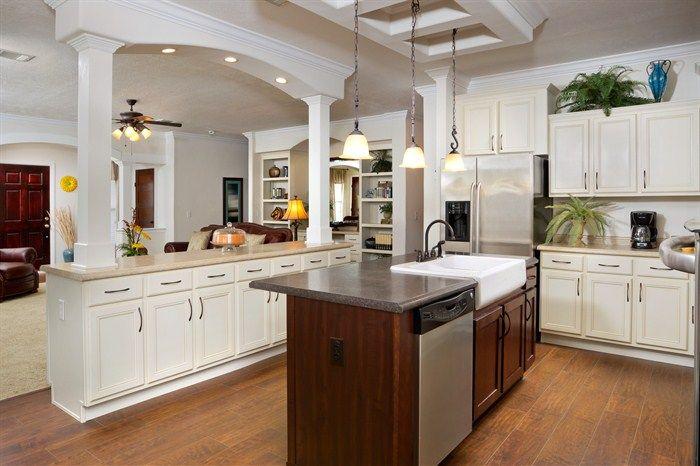 Ez 801 sequoia change center island color add copper for The veranda clayton homes