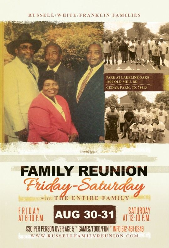 50 best Events - Family Reunion images on Pinterest Birthdays - family reunion flyer