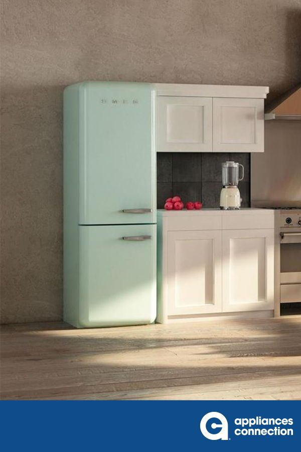 Revisit The Glamour And Glory Of The Color And Retro Lines Embodied From The 1950 S With The Smeg In 2020 Bottom Freezer Bottom Freezer Refrigerator Interior Lighting