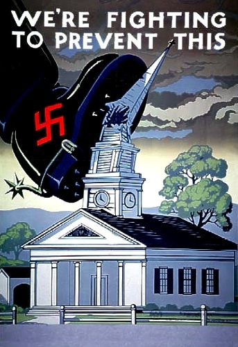 Propaganda poster: Design Inspiration, Propaganda Posters, Picture-Black Posters, War Posters, Wwii Propaganda, Wwii Posters, War Ii, We R Fight, Catholic Church