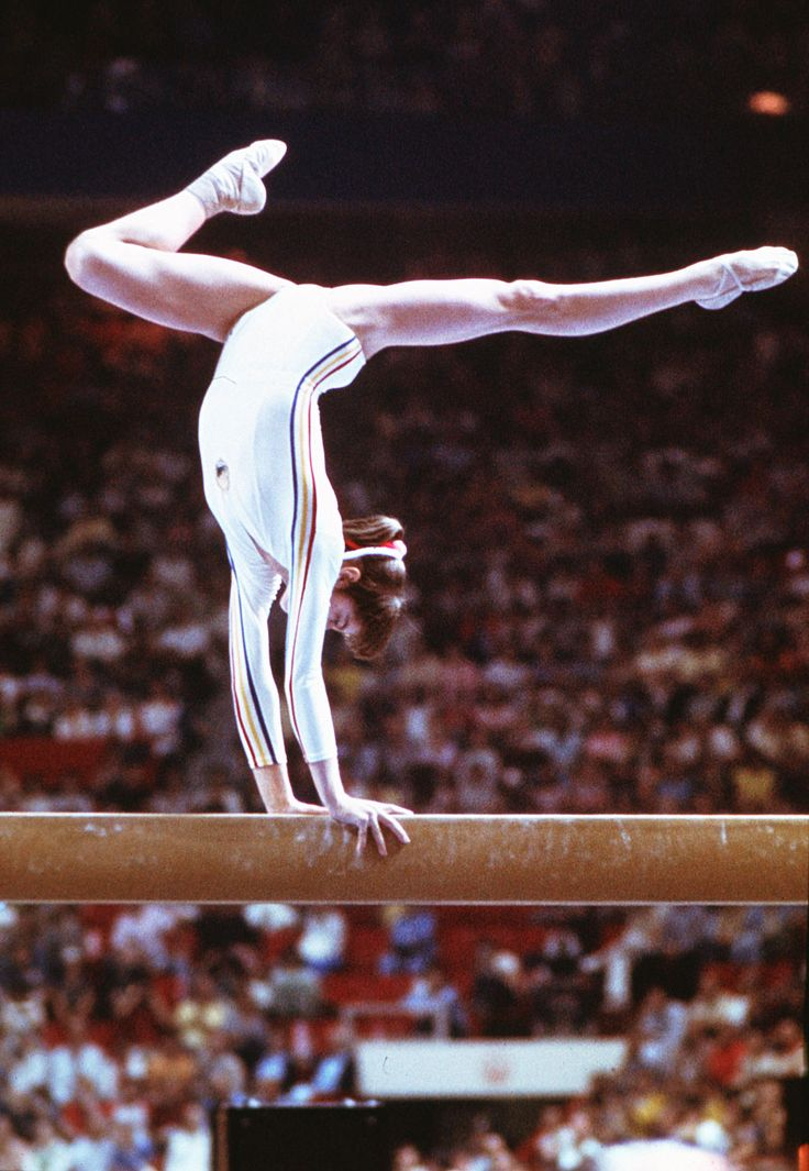 Nadia Comaneci Romania Famous For Her Perfect Score Of