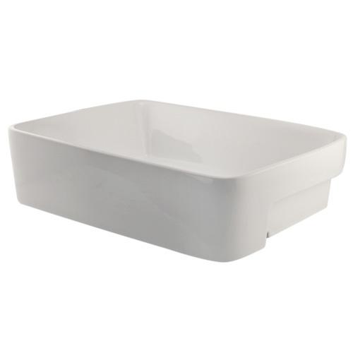 Low Profile Bathroom Sink : Mia Semi-Recessed Basin Overall dimensions: 18-7/8