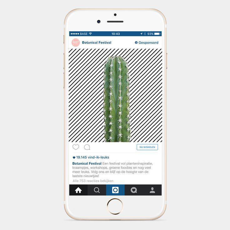 NIEN // Advertentie Instagram Botanical Festival