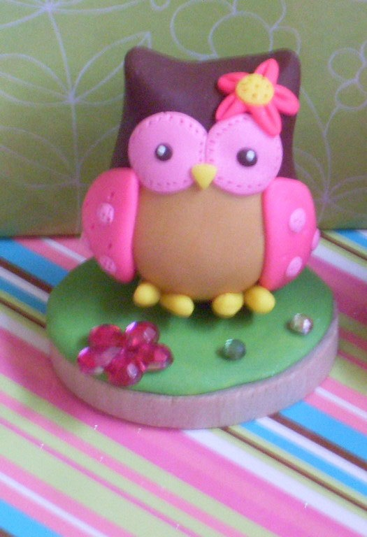 One Small Owl Cake Topper CUTE by lindsayisartsy on Etsy, $12.25
