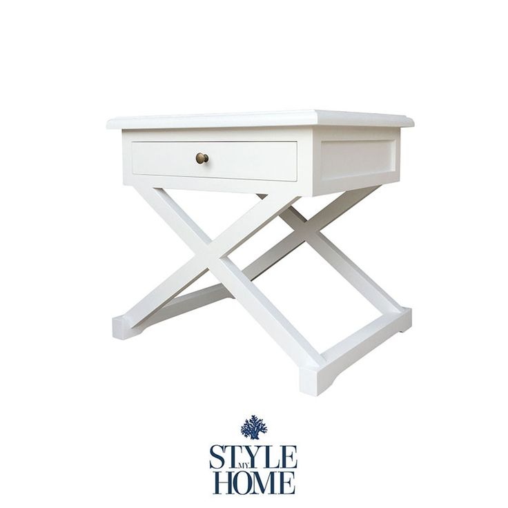 Hamptons Style White Bedside by Style My Home Australia