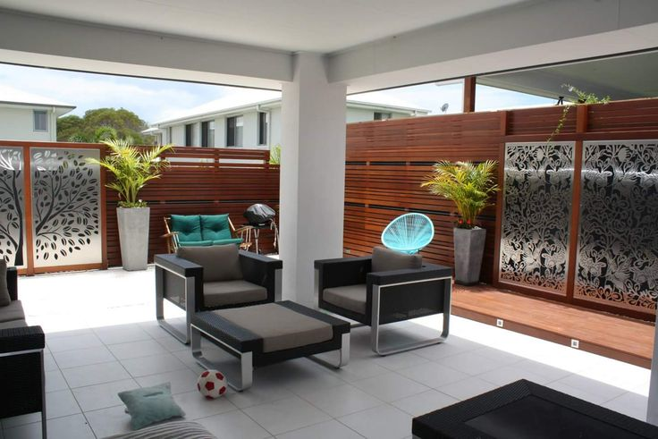 URBAN METAL : Outdoor Decorative Screens.  Stainless Steel + Timber - a match made in heaven !  Stainless Steel panels were custom framed in timber , creating a stunning combination. Urban Metal . Decorative Screening. Privacy Screens. Light Feature.  Designs : Tree Of Life. Freedom