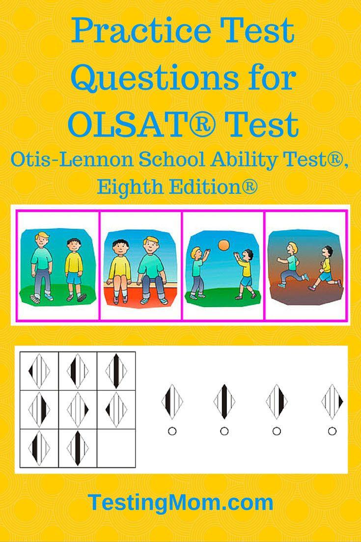 Practice Test Questions For Olsat Test Otis Lennon School Ability