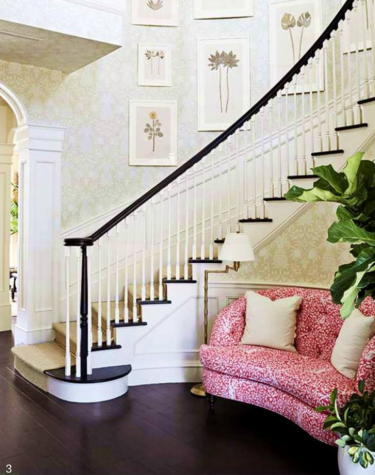 Charming stair hall and foyer with a