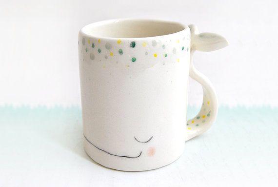 Ceramic Dreamy Whale Mug/ Ceramic Dreamy Whale Cup par Barruntando, €22.00