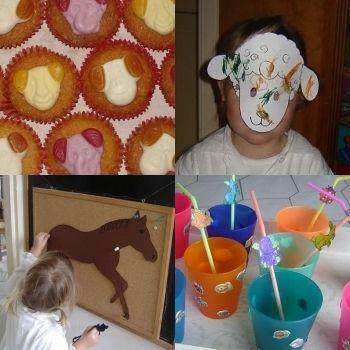 Een dierenkinderfeestje thuis voor de allerkleinsten