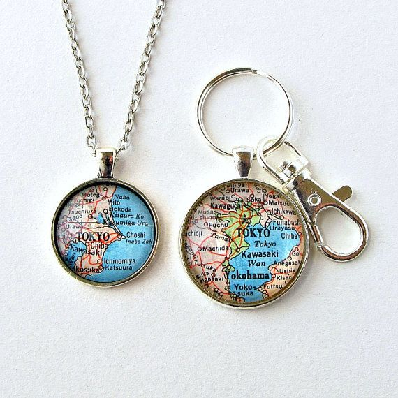 Long Distance Relationship Jewelry  / Valentines Day Long Distance / Distance Keychain / Distance Necklace / Boyfriend Girlfriend Jewelry