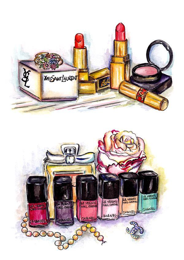 Makeup Drawing: 115 Best Images About Illustration Makeup On Pinterest